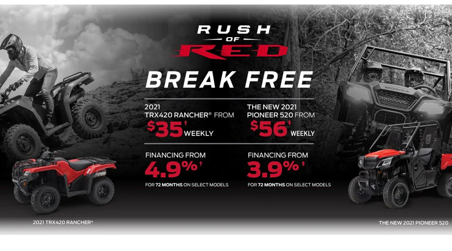 Honda Rush of Red Event Perth Ontario