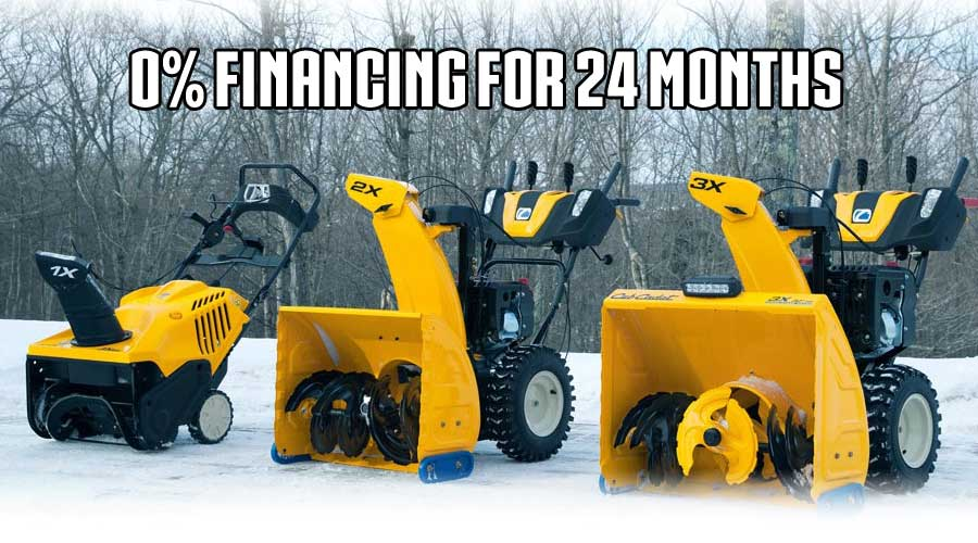 Cub Cadet Snow Thrower Financing Ontario